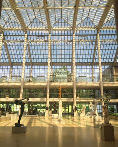 This vast light-filled space presents the Museum's unsurpassed collection of American monumental sculpture architectural elements and stained glass. Gallery 700 - The Charles Engelhard Court #TheMet #AmericanWing #emptymet by metmuseum