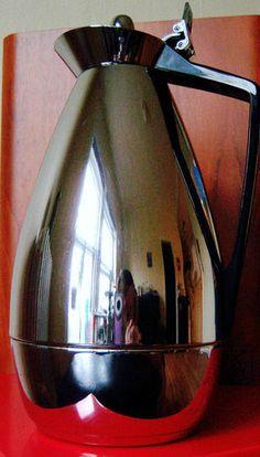 ALFI VINTAGE CARAFE 0,85L WEST GERMAN MID CENTURY COFFEE DECANTER CROME THERMOS