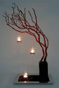 simple a beautiful: manzanita -red-votives