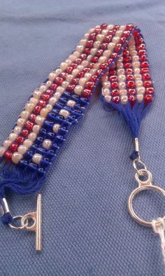 1000 images about 4th of july on pinterest american for Patriotic beaded jewelry patterns