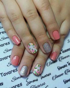 Ideas nails pink shellac nailart for 2019 Pink Shellac, Pink Nails, My Nails, Trendy Nails, Cute Nails, Acrylic Nails Coffin Glitter, Nail Time, Unicorn Nails, Pretty Nail Art