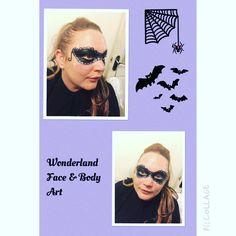 Black mask face paint