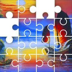 China Sunset Jigsaw Puzzle, 67 Piece Classic.