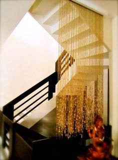 Elegant example of beaded curtain display! Maison have beaded curtains available to order