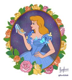 Cinderella - 70th Anniverssary by tiffanymarsou on DeviantArt Cinderella Cartoon, Disney Cartoon Characters, Disney Cartoons, The Little Mermaid Series, Pinterest Diy Crafts, Disney Images, Disney Love, Disney Stuff, Walt Disney