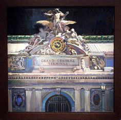 Francis Livingston (American, 1953). Dawn On Grand Central, Oil On Panel, 36x36. arcadiafinearts