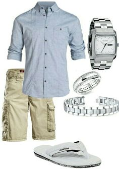 Men's fashion casual shorts outfit