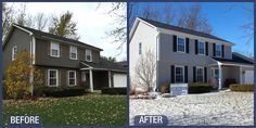 Siding Renovation with new James Hardie Pearl Gray