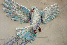 art object from mosaic dove www.ru vk … – My Wedding – Mosaic Mosaic Artwork, Mosaic Wall Art, Tile Art, Mosaic Animals, Mosaic Birds, Mosaic Crafts, Mosaic Projects, Mosaic Designs, Mosaic Patterns