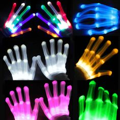 Multi Color LED Flashing Gloves Electro Light Up Christmas Dance Rave Party Fun | Clothes, Shoes & Accessories, Fancy Dress & Period Costume, Accessories | eBay!