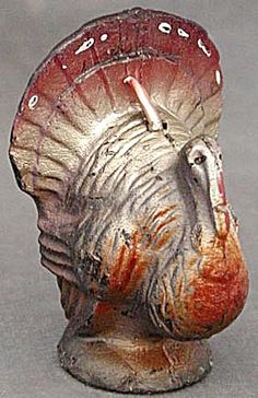 Vintage Thanksgiving Gurley Turkey Candle. Click on the image for more information.