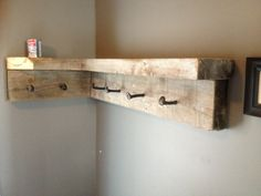 Railroad spike coat rack :)