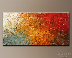 Wow guests when they step into your room. This modern abstract art for sale 'Running Free' brings a vibrant warmth to your living room, workspace, or any wall. Includes red, blue, white, orange and brown.