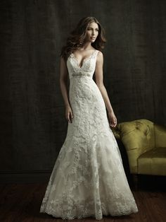 Allure Bridals : Allure Collection : Style 8634 : Available colours : White/Silver, Ivory/Silver, Ivory/Light Gold/Silver