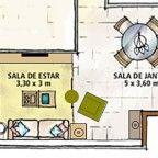 organizar móveis na sala