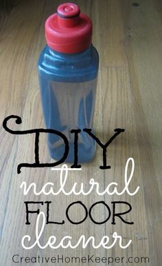 DIY Natural Floor Cleaner only uses two ingredients, is frugal, natural and effective at cleaning your hardwood floors | CreativeHomeKeepe...