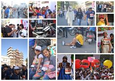 Here is a collage of great moments during the Run!  Where few people took slow and steady start while few took a great pickup...Some made sure they did enough warmups, while some actually didn't care about individual run.. they enjoyed in groups!  What an eventful day... Watch out this space for more updates from the Nehru Stadium!   #RunIndoreRun #JioIndoreMarathon