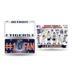 Detroit Tigers MLB 3 Piece Auto Family Pack