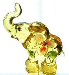 Elephant glass figurines