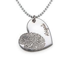 How to make fingerprint jewelry diy pinterest fingerprint fingerprint necklace in silver fingerprint necklacefingerprint heartdiy solutioingenieria Gallery