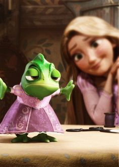 20 Day Disney Princess Challenge Day The sidekick you wish you had - Pascal. He loves Rapunzel so much and will do anything to make her happy (like wear a dress) and protect her.