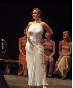 Milana Vayntrub in a sheer dress