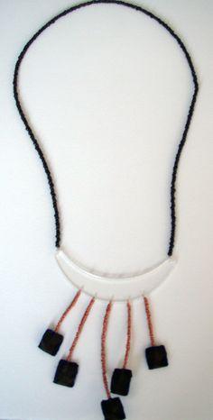 Silk fabric, plexiglas, wire