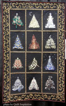 Quilt Inspiration: Twelve days of Christmas Quilts: Winter Fantasy Forest