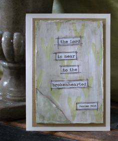 Sympathy Card The Lord is Near to the by PaperandMallet on Etsy