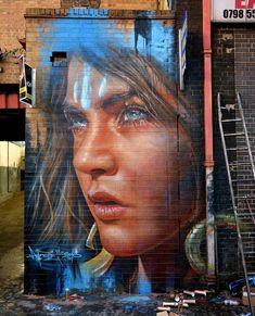 RT GoogleStreetArt: Street Art by Adnate in London     #art #mural #graffiti…