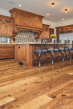 Custom Hand Sed Hickory Floor In Cupertino