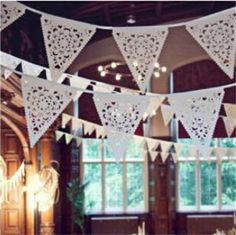 2.5M White Lace Fabric Banner Pennant Wedding Flag Bunting Decor Vintage Party Birthday Wedding Garland Home Decoration EJ678860-in Event & Party Supplies from Home, Kitchen & Garden on Aliexpress.com   Alibaba Group