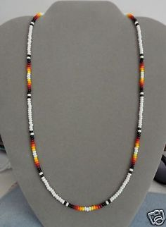 White + Black Beaded Necklace ~ Mens, Womens ~ Native American Made ~ All Sizes