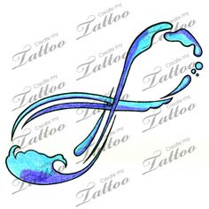 Water Infinity Sign Tattoo