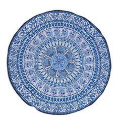 2017 Topsella Bohemian Geometric Decorative Wall Carpet Tapestries Art Hanging Meditation Mandala Bed Decor 150x150cm 59x59in