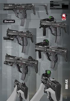 unannounced project from 2014 - near future assault rifle for arktos entertainment by rmory studios