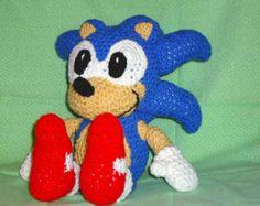 Sonic PDF pattern crochet retro blue hedgehog amigurumi geekery crochet animal doll pattern