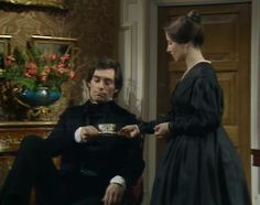 Costumes in Jane Eyre Movie & TV Adaptions Jane Eyre 1983, Jane Eyre Movie, Jane Austen, Bronte Novels, Charlotte Bronte Jane Eyre, Samantha Morton, Bronte Sisters, Timothy Dalton, Famous Novels