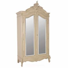 Normandy 2-Door Mirrored Shabby Chic Armoire