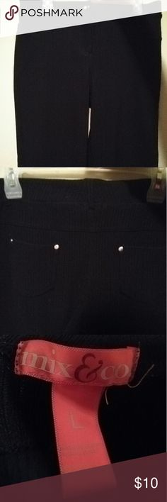 Black Jegging Fabric Dress pants **REPOSH. Black jegging type pants. Bought them, because it was what I was looking for. Unfortunately they were too big.?? They say Large. I feel they may fit a bigger size large or extra large. Still in great condition. Please feel free to ask any questions. Pants