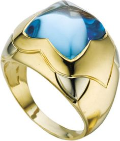 BVLGARI RING (blue topaz & 18k gold)