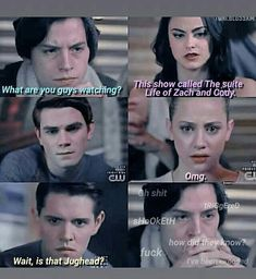lmaooo riverdale is my lifeeee💙💛💙💛 Memes Riverdale, Riverdale Funny, Bughead Riverdale, Riverdale Netflix, Riverdale Betty, Sprouse Bros, Zack Y Cody, Riverdale Characters, Riverdale Cole Sprouse