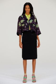 Creatures of the Wind S/S 2012. Deep violet and mint green watercolor shirt