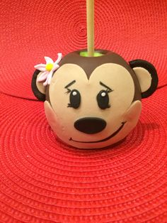 Monkey chocolate covered apple