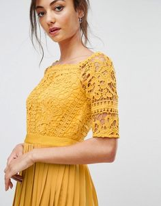 Find the best selection of Little Mistress Tall Cutwork Lace Top Midi Skater Dress With Pleated Skirt. Shop today with free delivery and returns (Ts&Cs apply) with ASOS! Haute Couture Designers, Midi Skater Dress, Cutwork, Pleated Skirt, Fashion Online, Short Sleeve Dresses, Bridesmaid Dresses, Mistress, My Style