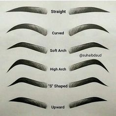 which one is yours? mine soft arch #kudou #eyebrows #eyebrowtutorial Eyebrow Shaping Tutorial Including Tips For Plucking, Eyebrow Shaping For Beginners, DIY, And How To Get Arches. See The Difference For Eyebrow Shaping Before and After. Learn How To S