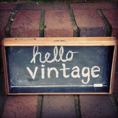 DIY  Chalkboard Sign made from an old cigar box.  Make your own in no time!