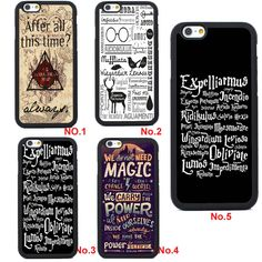 Harry Potter Silicone Case Cover for iPhone 4 4S 5 5S SE 5C 6 6S Plus Phone Case…