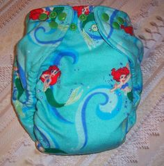 Custom+Made+Cloth+DiaperThe+Little+Mermaid+by+Los+by+loschiquitos,+$9.25
