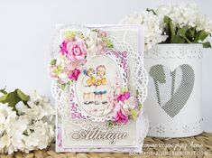 Krok po kroku z Olą: kartka wielkanocna - Step by step with Ola: Easter card Arts And Crafts, Paper Crafts, Just Love Me, Card Making, Shabby, Scrapbooking, Blog, Cards, How To Make